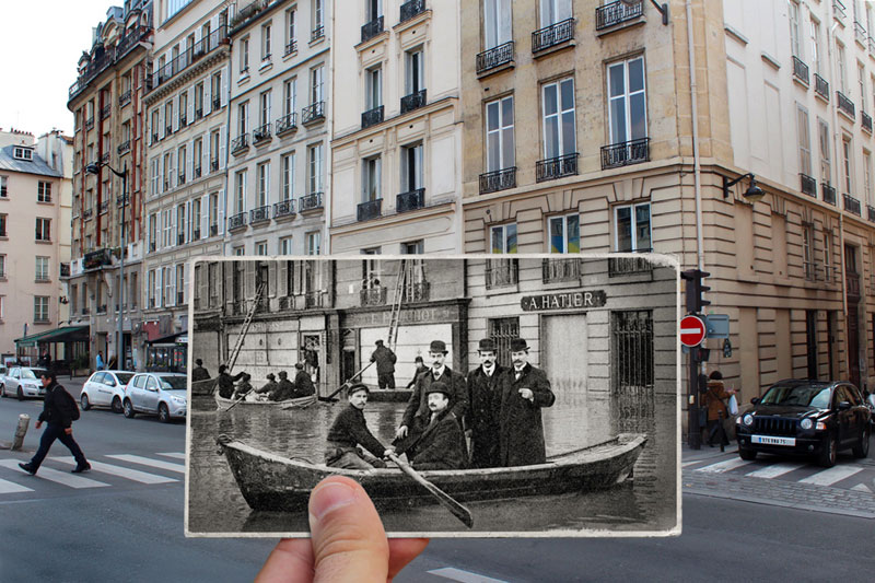 Then and Now The 1910 Great Flood of Paris vs 2016 Floods (1)