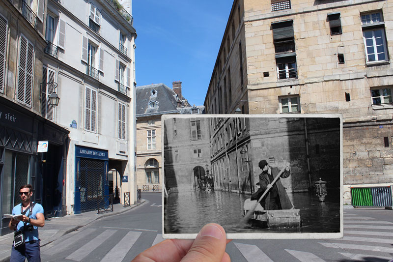 Then and Now The 1910 Great Flood of Paris vs 2016 Floods (2)