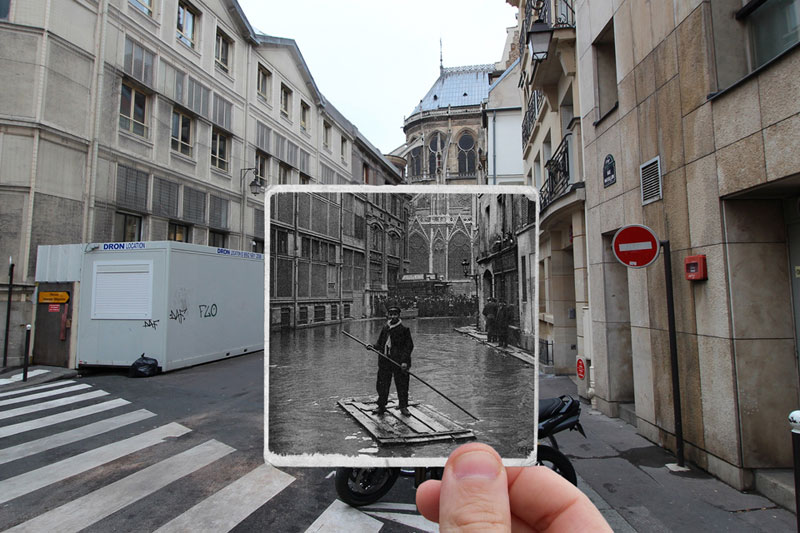 Then and Now The 1910 Great Flood of Paris vs 2016 Floods (7)