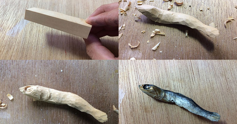 Wood Sculptor Expresses Love For Food With Amazingly Realistic Sculptures