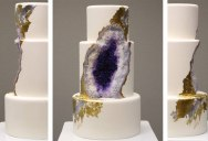 Amethyst Geode Wedding Cake by Intricate Icings