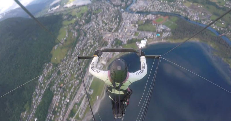 Probably the Most Intense Hang Gliding Video I've Seen