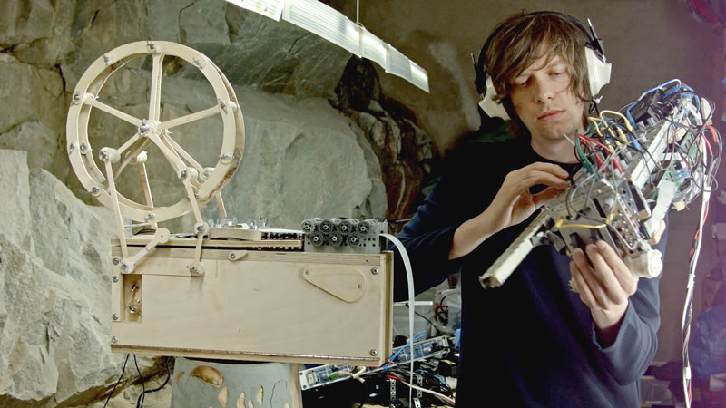 Artist Builds Custom Music Box and Modular Synth Violin to Play Song He Wrote