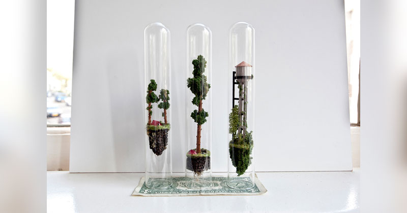 Rosa de Jong Makes Tiny Homes Suspended Inside Test Tubes