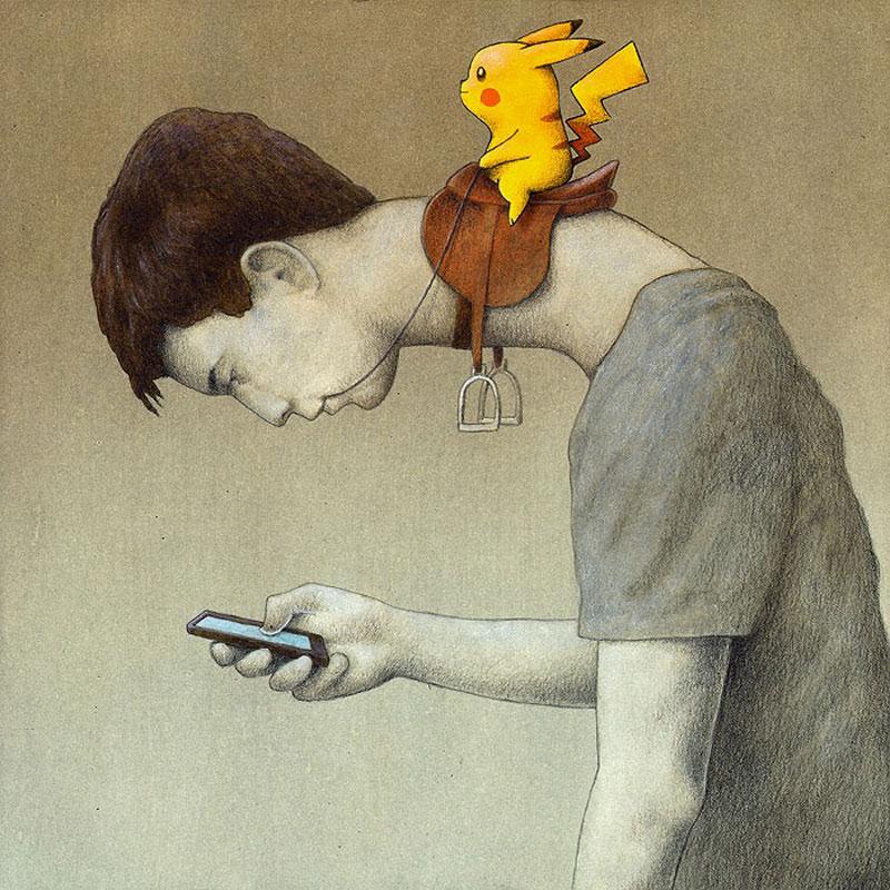 pokemon-says-go-pikachu-riding-human-by-pawel-kuczynski (1)