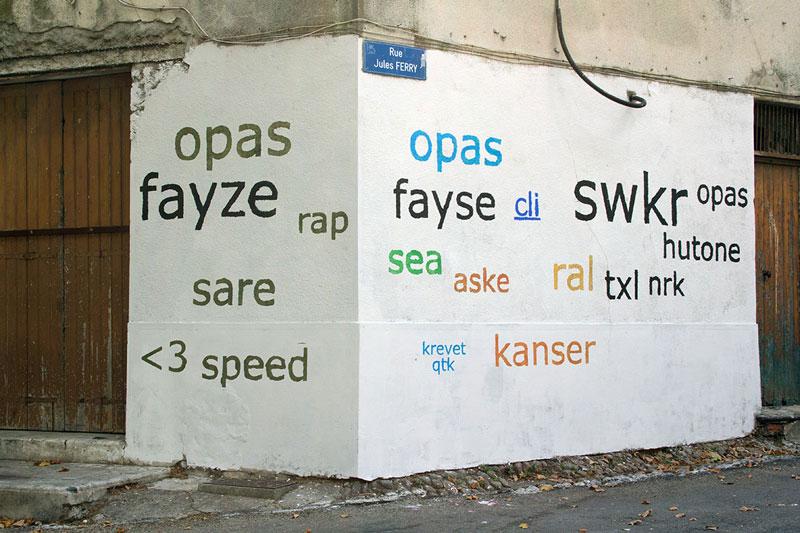 Street Artist Mathieu Tremblin Makes Graffiti Legible By Rewriting Them in Plain Text (12)