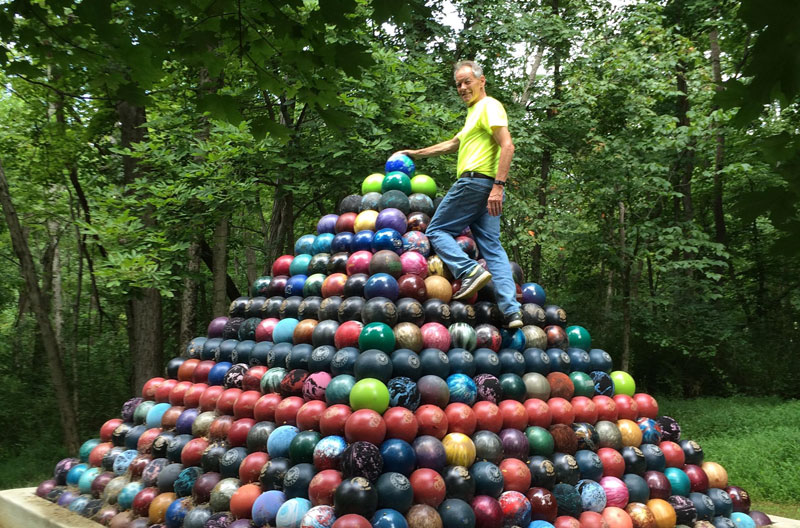 Picture of the Day: 1,785 Bowling Ball Pyramid