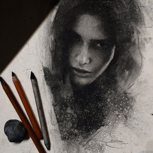Charcoal Drawings by Casey Baugh (2)
