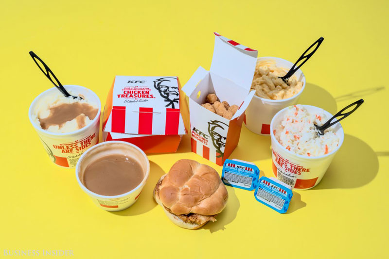 daily calroie intake fast food kfc What Your Entire Daily Calorie Intake Looks Like at 8 Popular Fast Food Chains