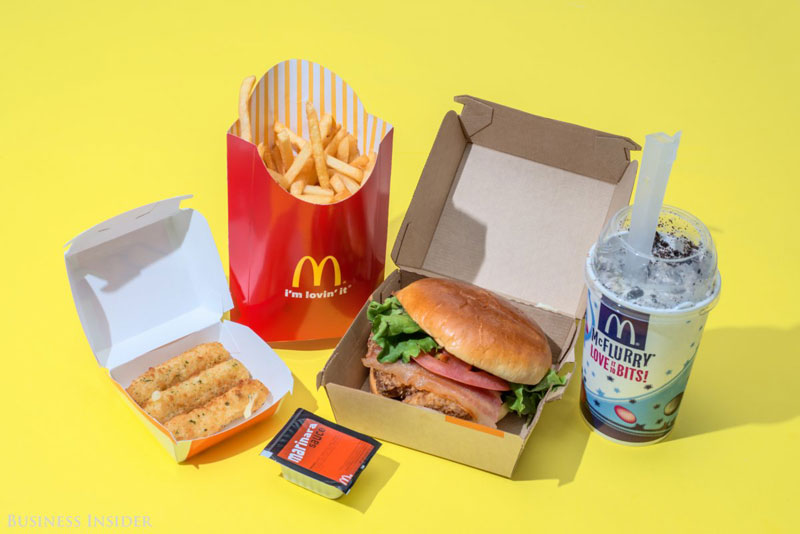 daily calroie intake fast food mcdonalds What Your Entire Daily Calorie Intake Looks Like at 8 Popular Fast Food Chains