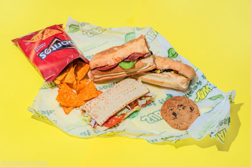 daily calroie intake fast food subway What Your Entire Daily Calorie Intake Looks Like at 8 Popular Fast Food Chains