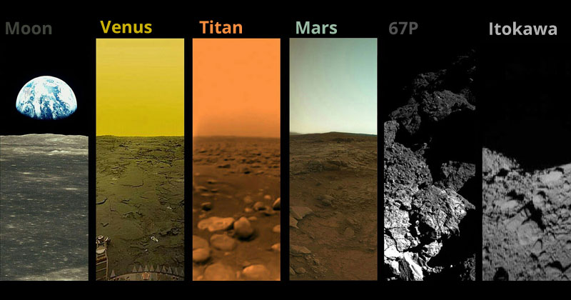 every extraterrestial body we have landed on and taken a photo from Every Extraterrestrial Body We Have Landed On and Photographed