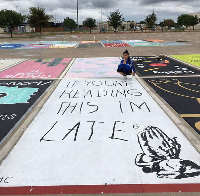 High Schools Let Their Seniors Paint Their Parking Spots (1)