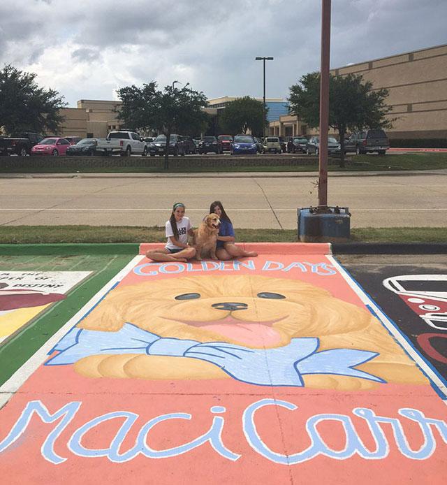 High Schools Let Their Seniors Paint Their Parking Spots (12)