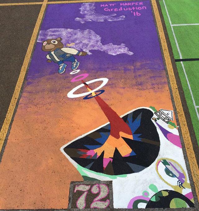 High Schools Let Their Seniors Paint Their Parking Spots (13)