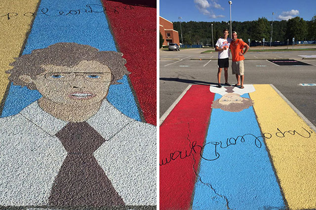 High Schools Let Their Seniors Paint Their Parking Spots (15)