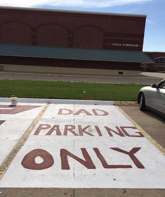 High Schools Let Their Seniors Paint Their Parking Spots (17)