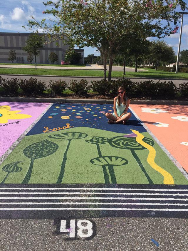 High Schools Let Their Seniors Paint Their Parking Spots (21)