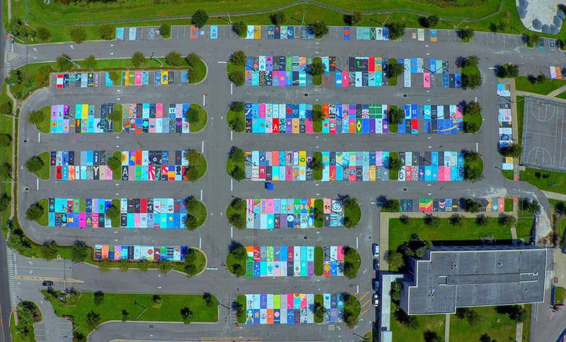 High Schools Let Their Seniors Paint Their Parking Spots (23)