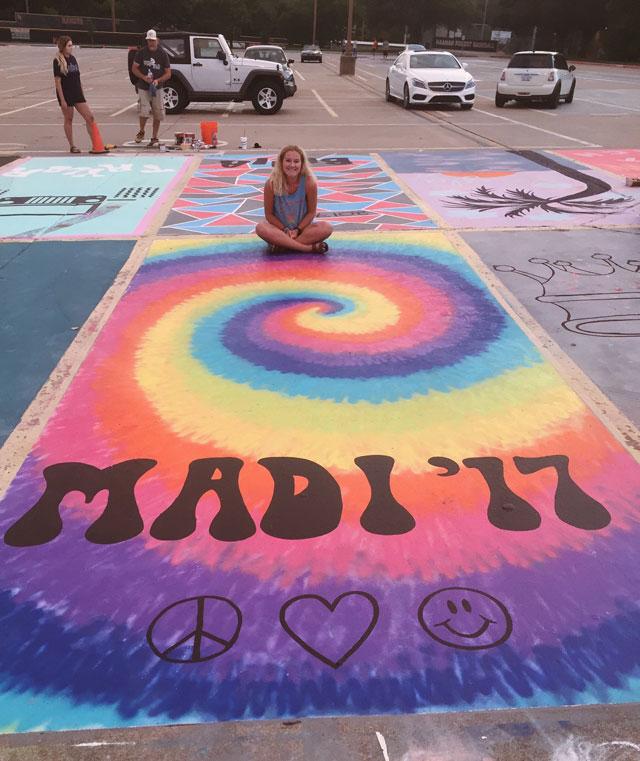 High Schools Let Their Seniors Paint Their Parking Spots (24)