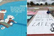 These High Schools Let Their Seniors Paint Their Parking Spots Each Year (24 Photos)