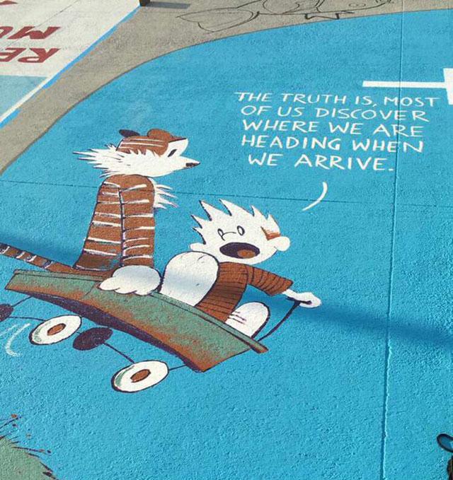 High Schools Let Their Seniors Paint Their Parking Spots (3)