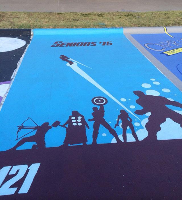 High Schools Let Their Seniors Paint Their Parking Spots (6)