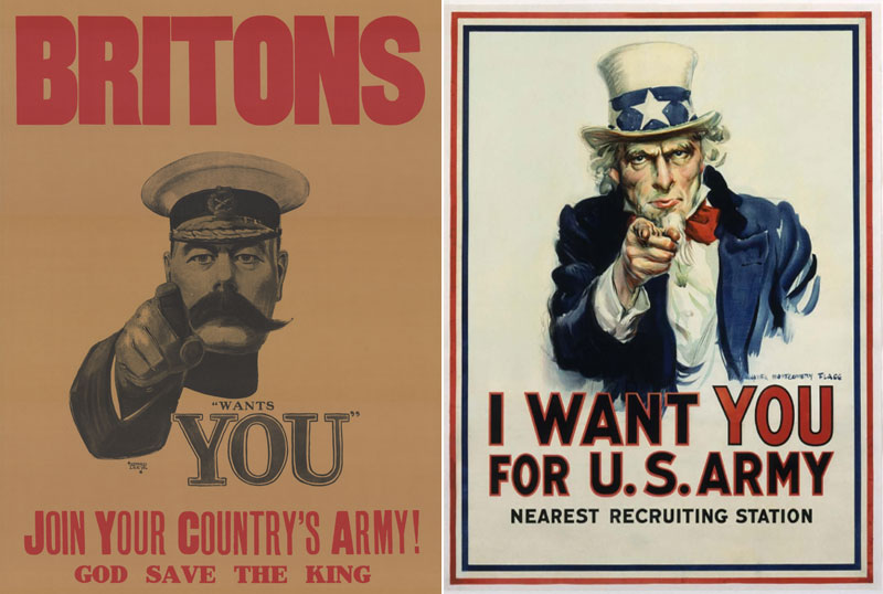 i want you recruitment poster lord kitchener uncle sam The True Faces Behind 5 Famous Logos