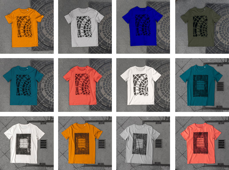 Raubdruckerin Guerilla Printing Manhole Covers Onto Shirts and Bags (12)