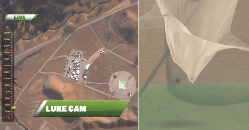 Skydiver Jumps Out of Plane With No Parachute and Lands Into Giant Net