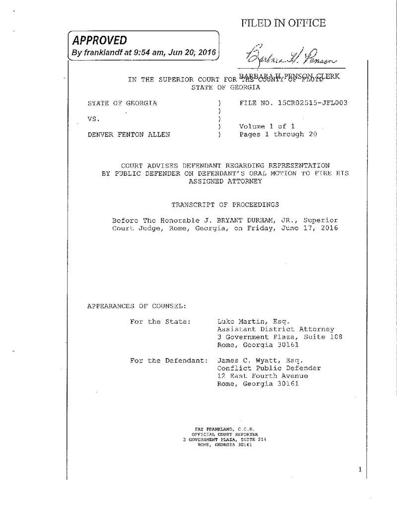 State of Georgia vs Denver Fenton Allen Court Transcript (1)