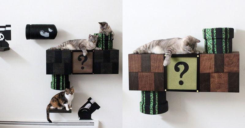 This Super Mario Cat Furniture is Amazing