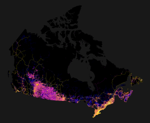 1 canada mapped only by roads streets and highways 1 canada mapped only by roads streets and highways
