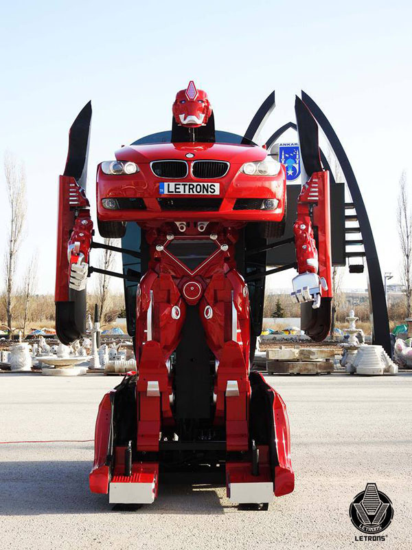bmw transformer by letrons 4 Turkish Engineers Build Full Scale, Driveable BMW Transformer