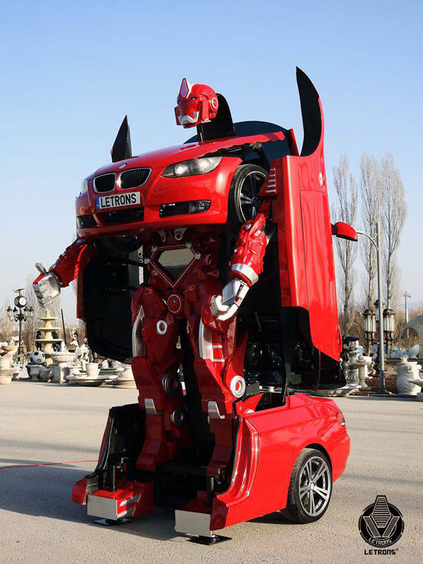 bmw transformer by letrons 5 Turkish Engineers Build Full Scale, Driveable BMW Transformer