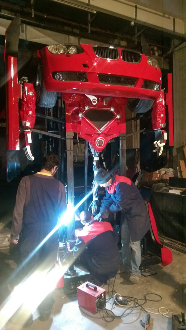 bmw transformer by letrons 6 Turkish Engineers Build Full Scale, Driveable BMW Transformer