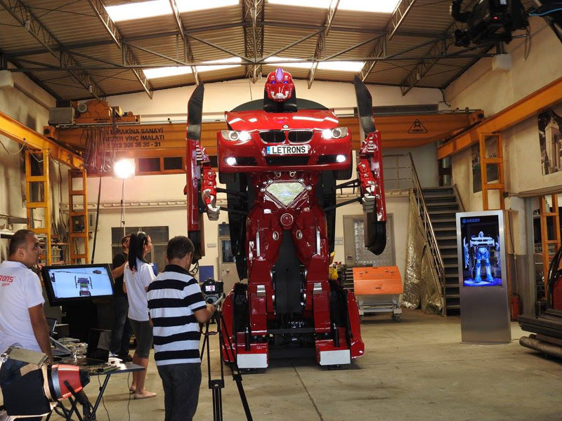 bmw transformer by letrons 7 Turkish Engineers Build Full Scale, Driveable BMW Transformer