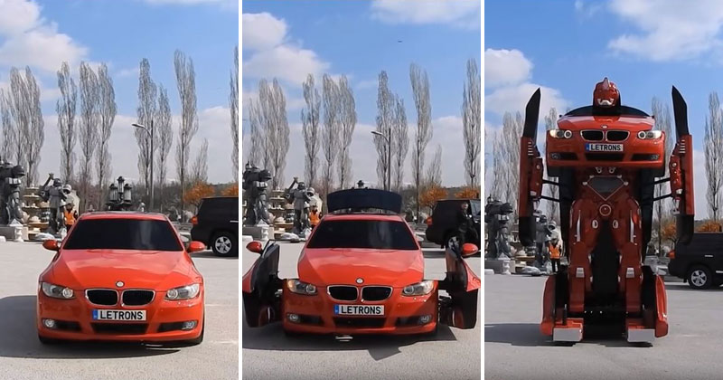 Turkish Engineers Build Full-Scale, Driveable BMW Transformer