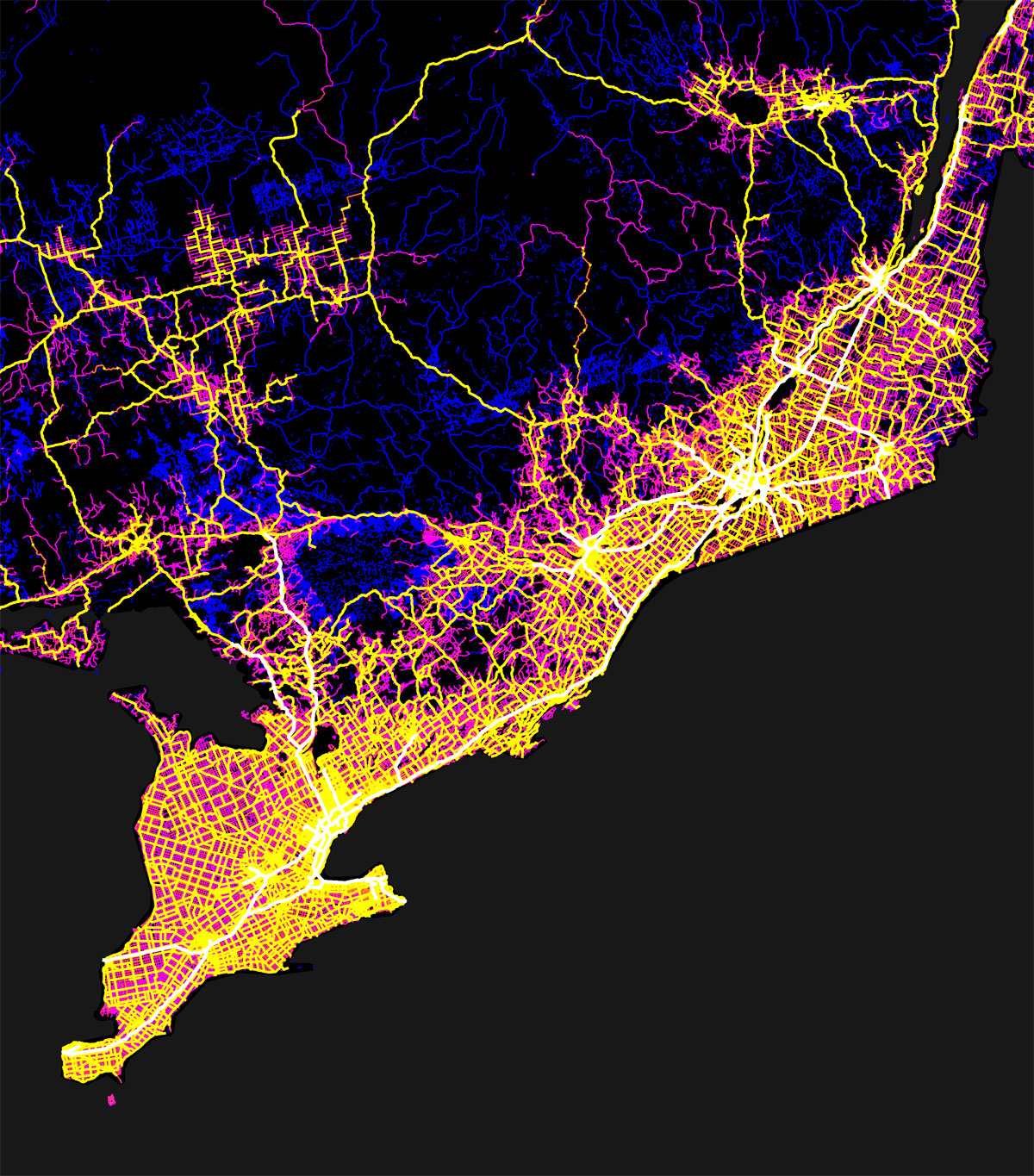 canada mapped by trails roads streets and highways by robbi bishop taylor 2 Canada Mapped by Trails, Roads, Streets and Highways