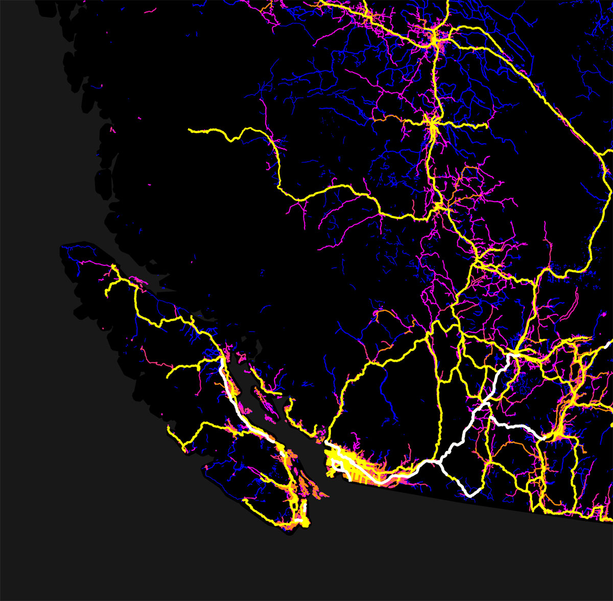 canada mapped by trails roads streets and highways by robbi bishop taylor 5 Canada Mapped by Trails, Roads, Streets and Highways