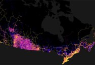 Canada Mapped by Trails, Roads, Streets and Highways