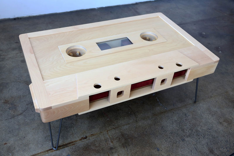 cassette tape coffee tables by taybles 214 graffiti 13 These Retro Cassette Tape Coffee Tables are Awesome
