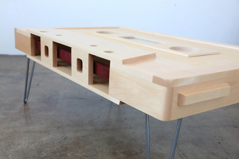 cassette tape coffee tables by taybles 214 graffiti 15 These Retro Cassette Tape Coffee Tables are Awesome