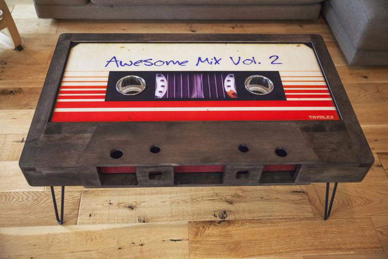 cassette tape coffee tables by taybles 214 graffiti 2 These Retro Cassette Tape Coffee Tables are Awesome