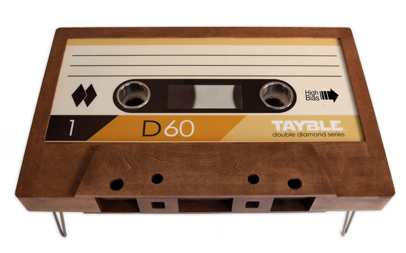 cassette tape coffee tables by taybles 214 graffiti 5 These Retro Cassette Tape Coffee Tables are Awesome