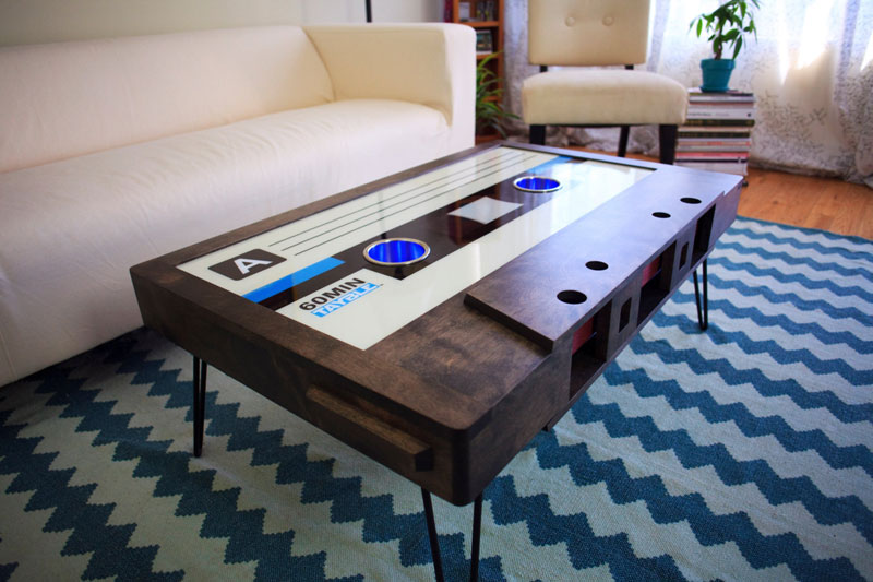 cassette tape coffee tables by taybles 214 graffiti 7 These Retro Cassette Tape Coffee Tables are Awesome