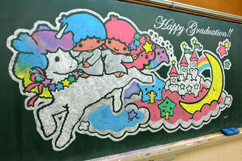 chalkboard drawings by hirotaka hamasaki 7 Teacher Delights Students With Incredible Chalkboard Drawings
