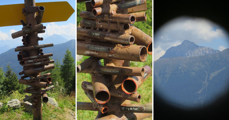 Clever Swiss Direction Sign Doubles as Viewfinder for Nearby Mountains