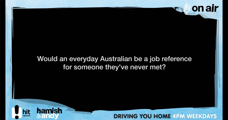 Guy Agrees to Be a Stranger's Job Reference and Becomes an Australian Legend