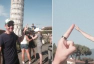 This Guy Had a Blast with Oblivious Tourists at the Leaning Tower of Pisa